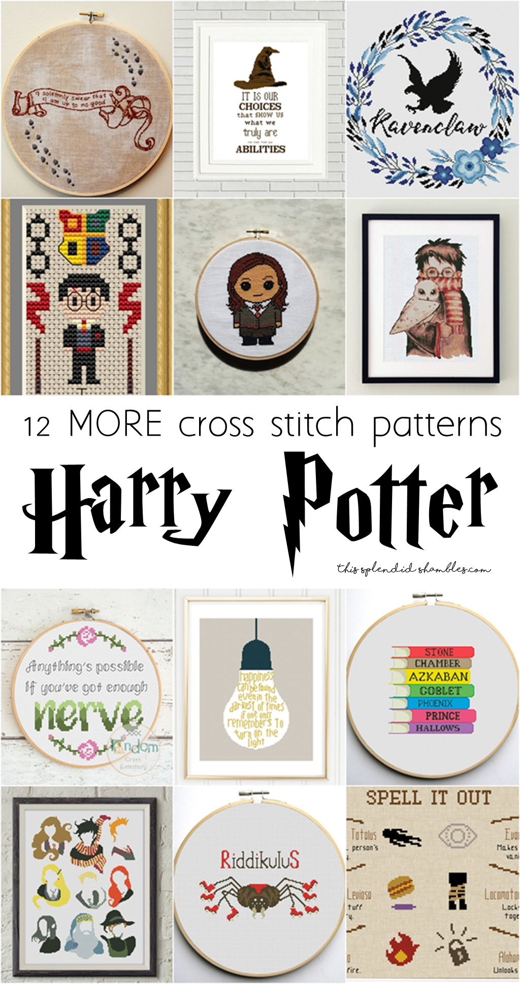 12 More Harry Potter Cross Stitch Patterns Harry Potter Week Tss